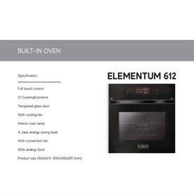 Jual Built In Oven CATRISTO ELEMENTUM 612