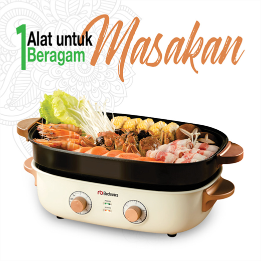 Mesin Multifunction Cooker 5 in 1 RB ELECTRONICS RC-MF780W