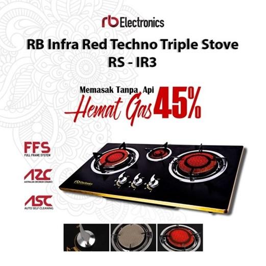 Kompor Tanam RB ELECTRONICS Infra Red Techno RS-IR3