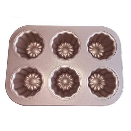 Loyang Canelle LISSE PREMIUM BAKEWARE Cake Mould 6 Cup