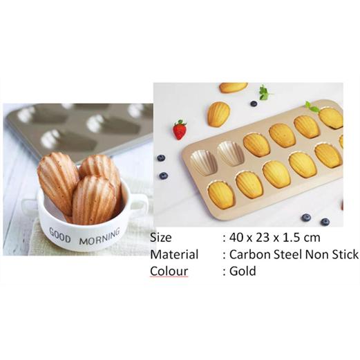 Loyang Madeline LISSE PREMIUM BAKEWARE Cake Mould 12 Cup