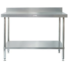 Jual Meja Stainless with Splash Back SIMPLY STAINLESS 450x600x900