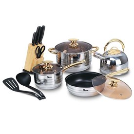 Jual Panci Cookware Set OXONE OX-777 Rosegold