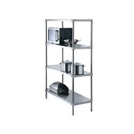 Jual SIMPLY STAINLESS - Adj. Storage Shelving 4 Tier (900 x 525 x 1800)