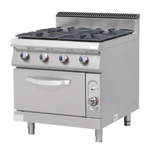 Jual Kompor Gas Plus Oven CROWN E-RQB-700-4S