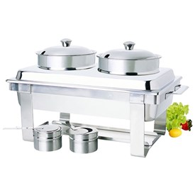 Jual Pemanas Makanan Sup ZEBRA Set Twin Pot Chef