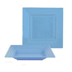 Jual Piring Kotak Cekung ONYX CFD14 6pcs Light Blue