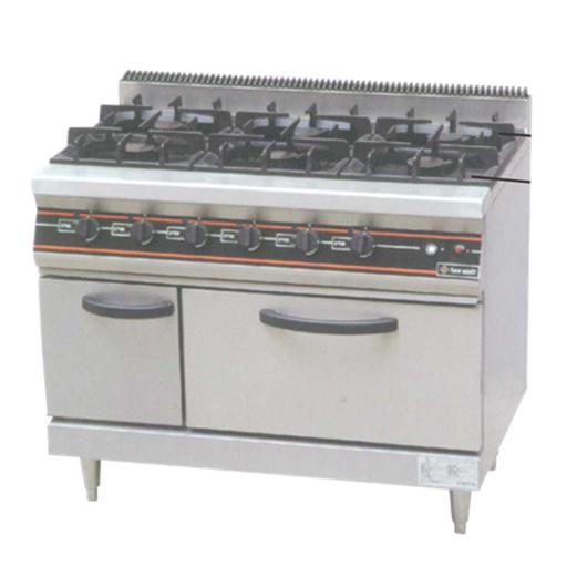 Jual Kompor Gas 6 Tungku GETRA Plus Oven RBJ-6