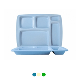 Jual Nampan Makan Petak 5 ONYX Table Ware 6pcs 5201 - Blue Ocean