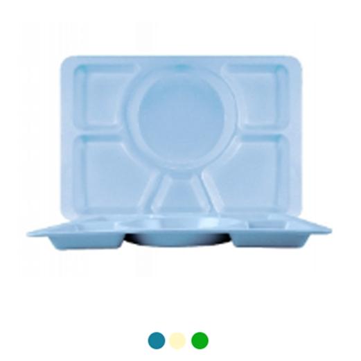 Jual Nampan Makan Petak 6 ONYX Table Ware 6pcs 5202 - Blue Ocean