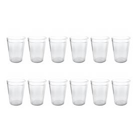 Jual Gelas Plastik ONYX Crystal Dishware 350ml 12pcs - ACG09 - Transparant