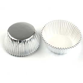 Jual Kertas Cupcake Bulat DRAGON PACK 70x32mm 1pak - Silver